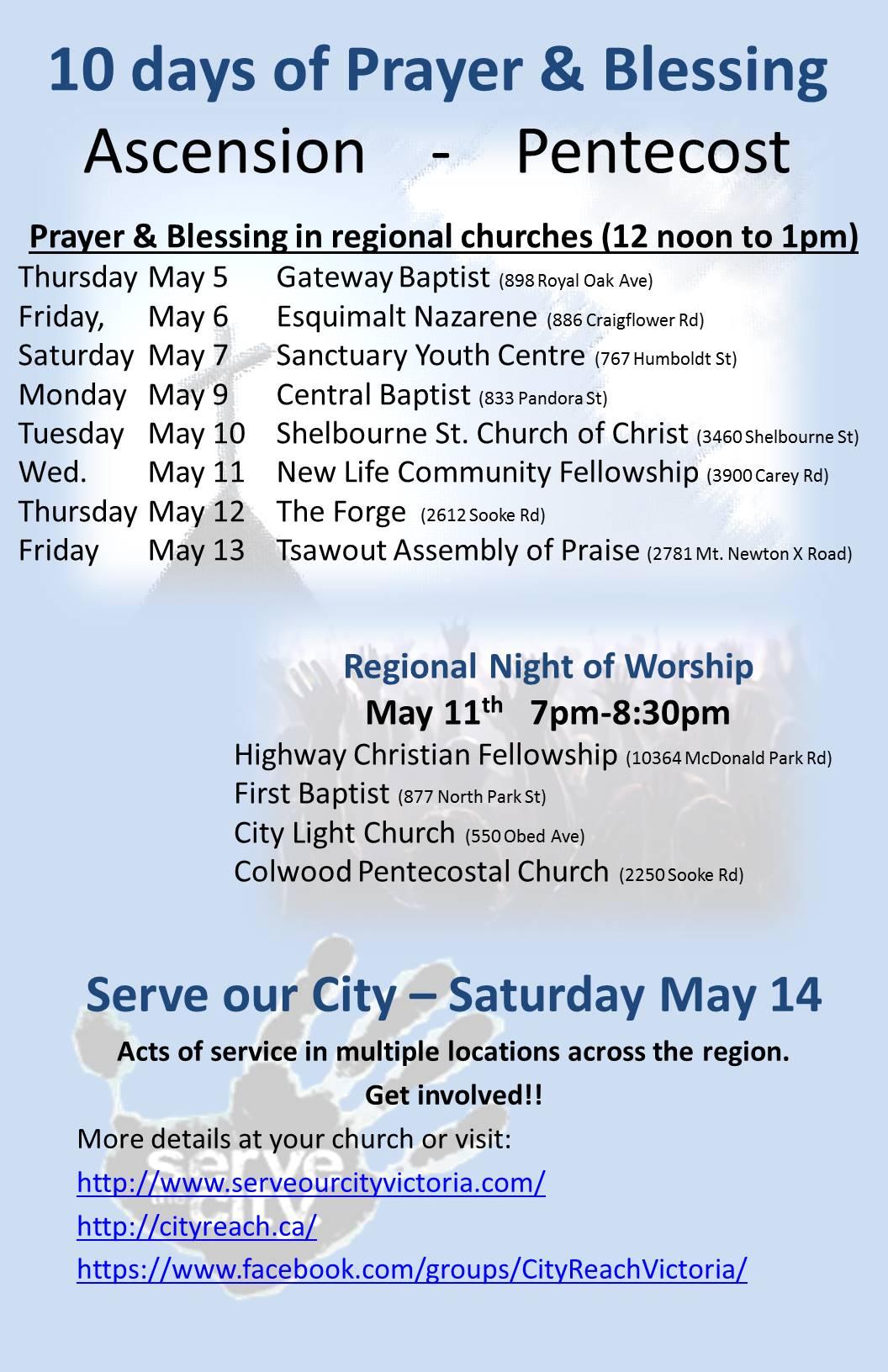 10 days of Prayer & Blessing poster